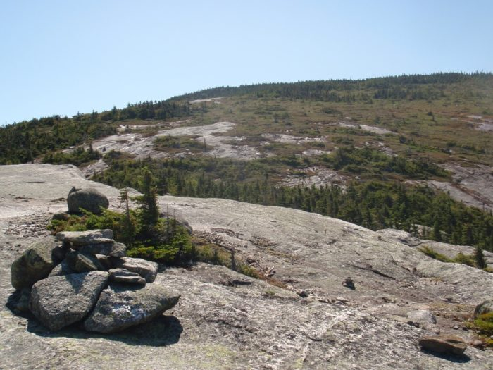 Rocky trail above treeline
