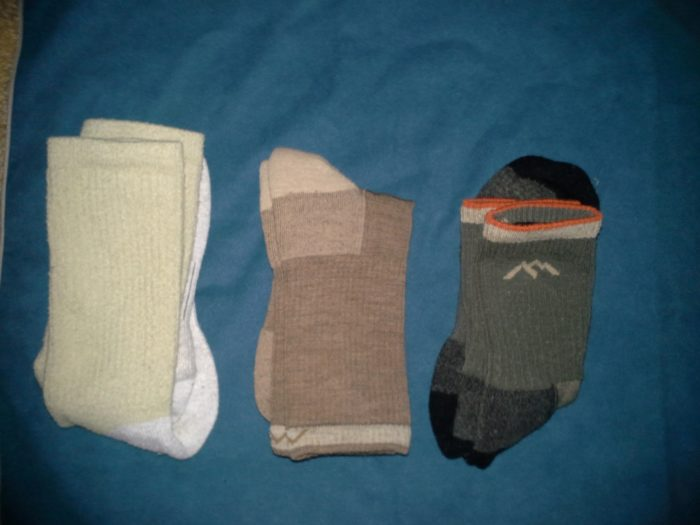 These are my spare socks, set fora pre-packing inspection.