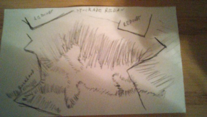 This is the terrain Sketch of Vicksburg. I have more, but this one was right at hand.