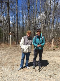 Last photo op with Mom in the Springer Mountain Parking Lot