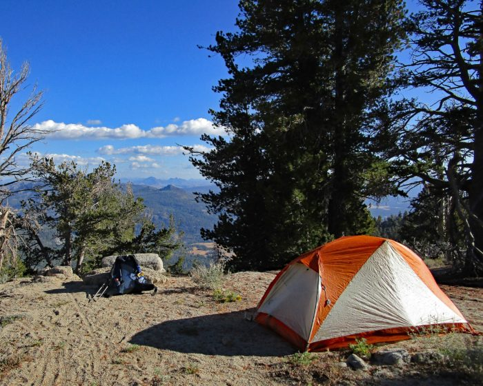 Camp near Freel Meadow