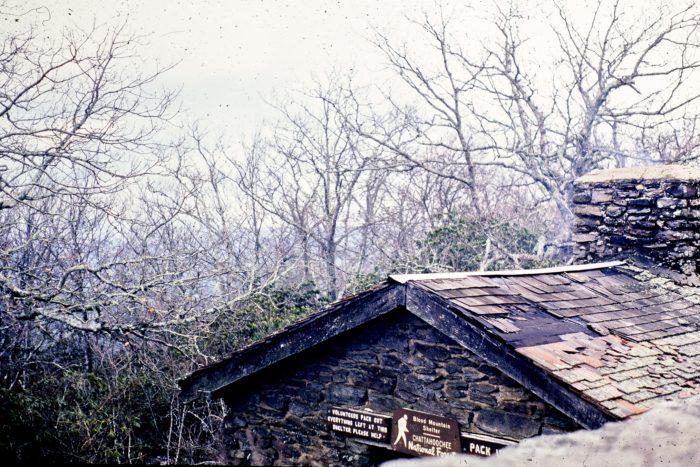 Blood Mountain Shelter circa 1981
