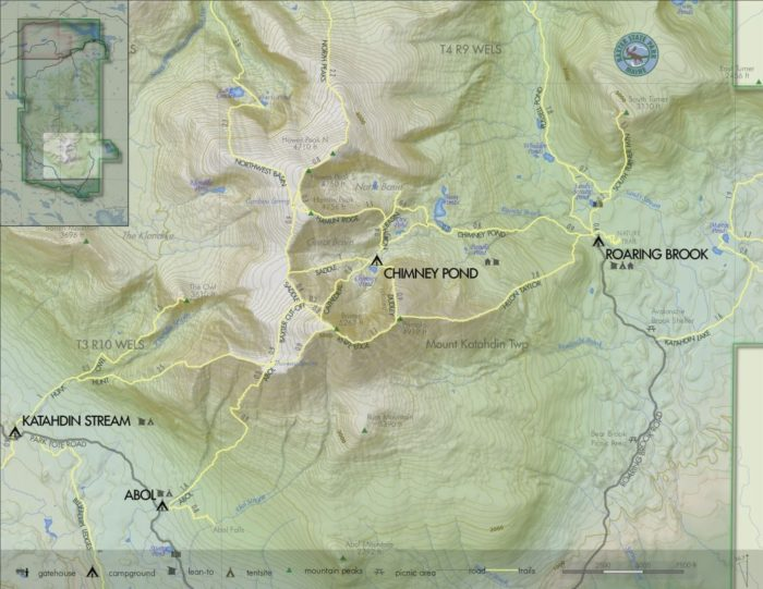 Map of Baxter State Park