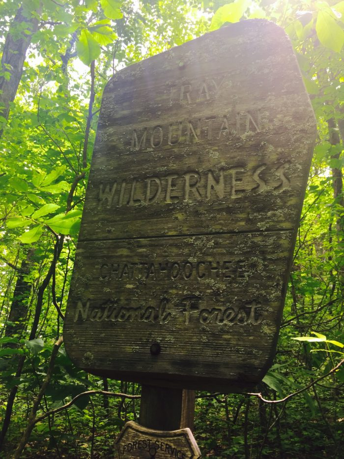 Tray Mountain Wilderness Sign