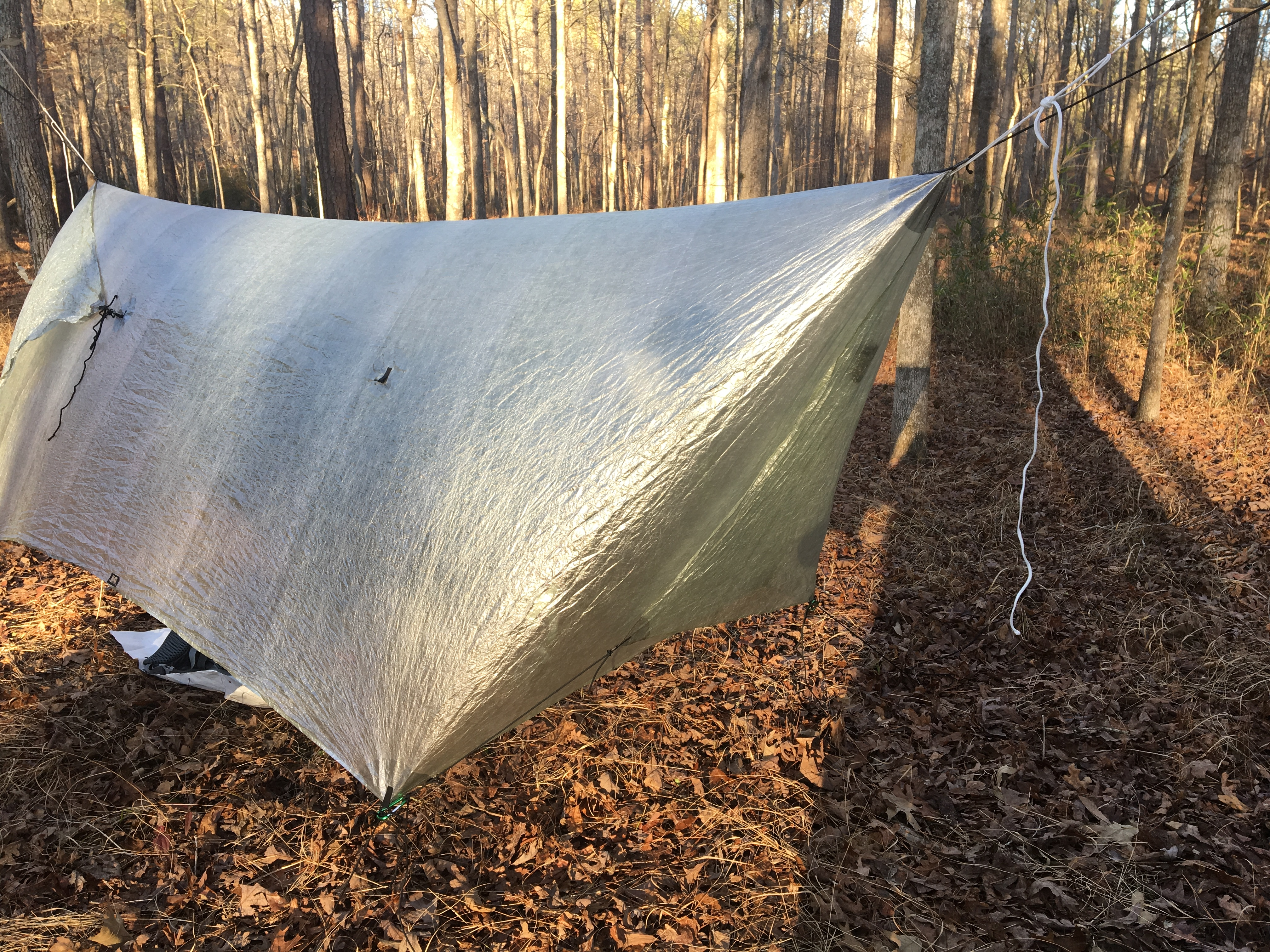 hg tarp on pinhoti trail in cheaha state park how to rig a hammock gear tarp   the trek  rh   thetrek co