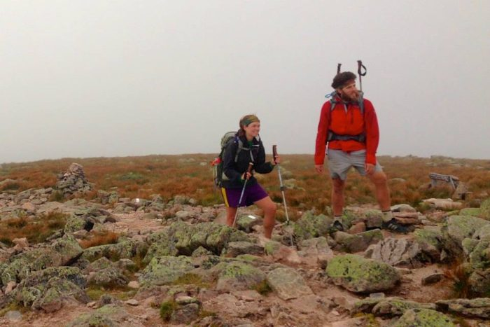 a photo of two Appalachian trail thru-hikers and future pacific crest trail thru-hikers