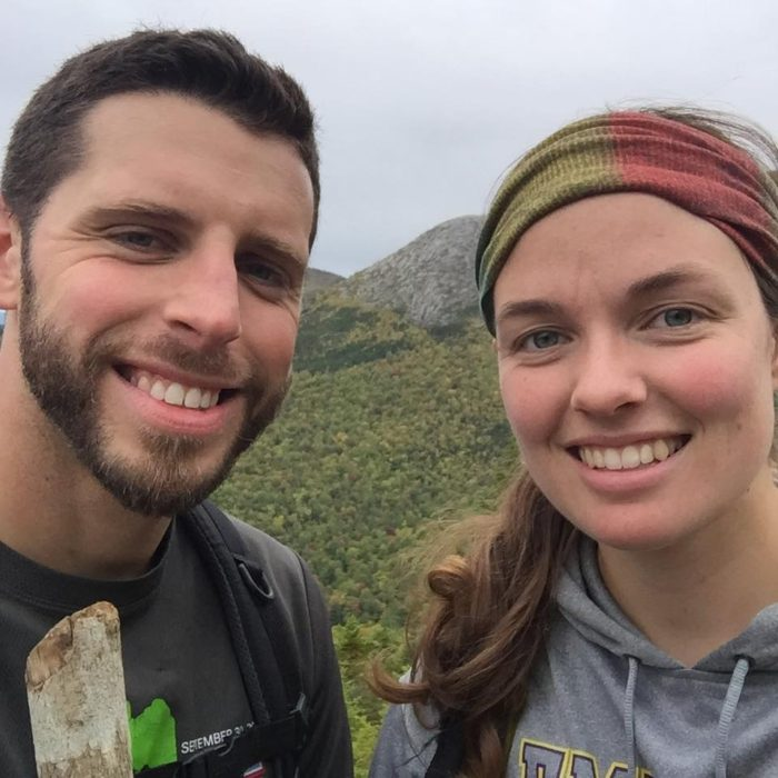 photo of male and female pacific crest trail hikers