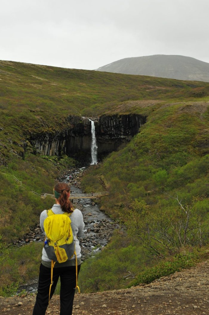 a photo of a female hiker in Iceland