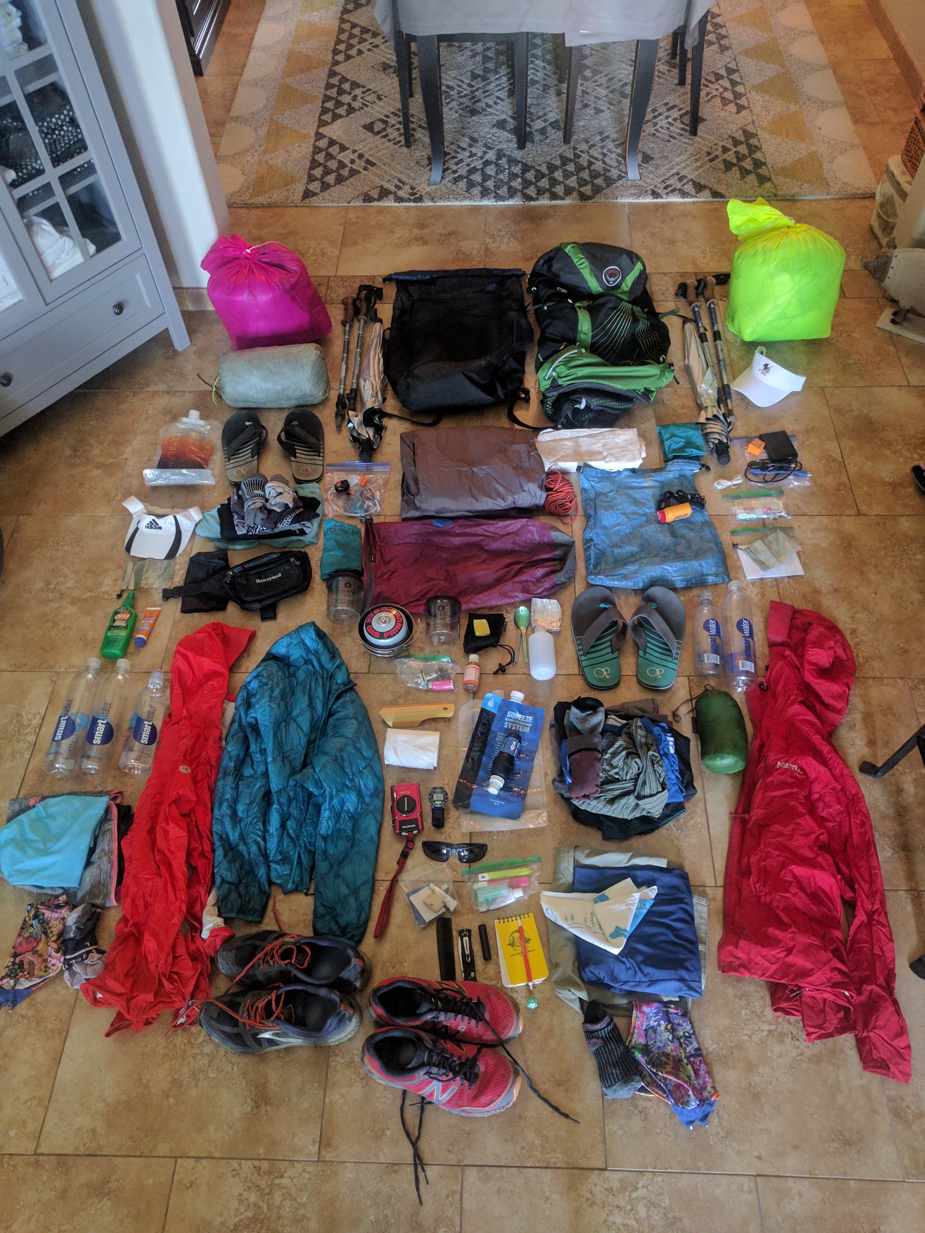Piñata And Sourstraws' PCT Before-and-After Gear - The Trek