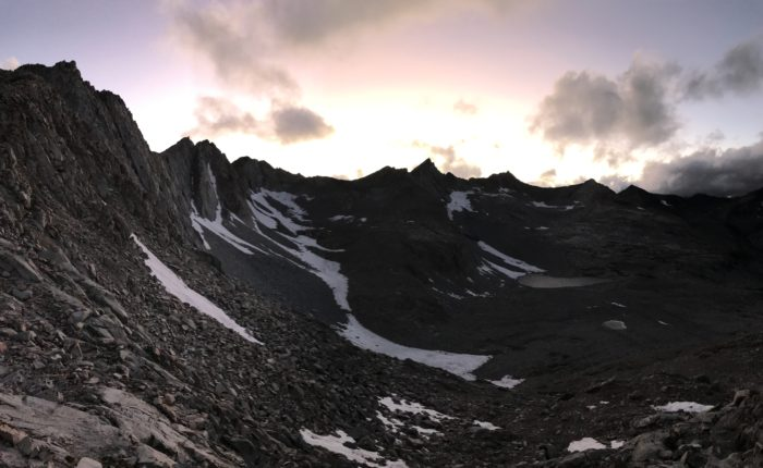 Sunset at Mather Pass