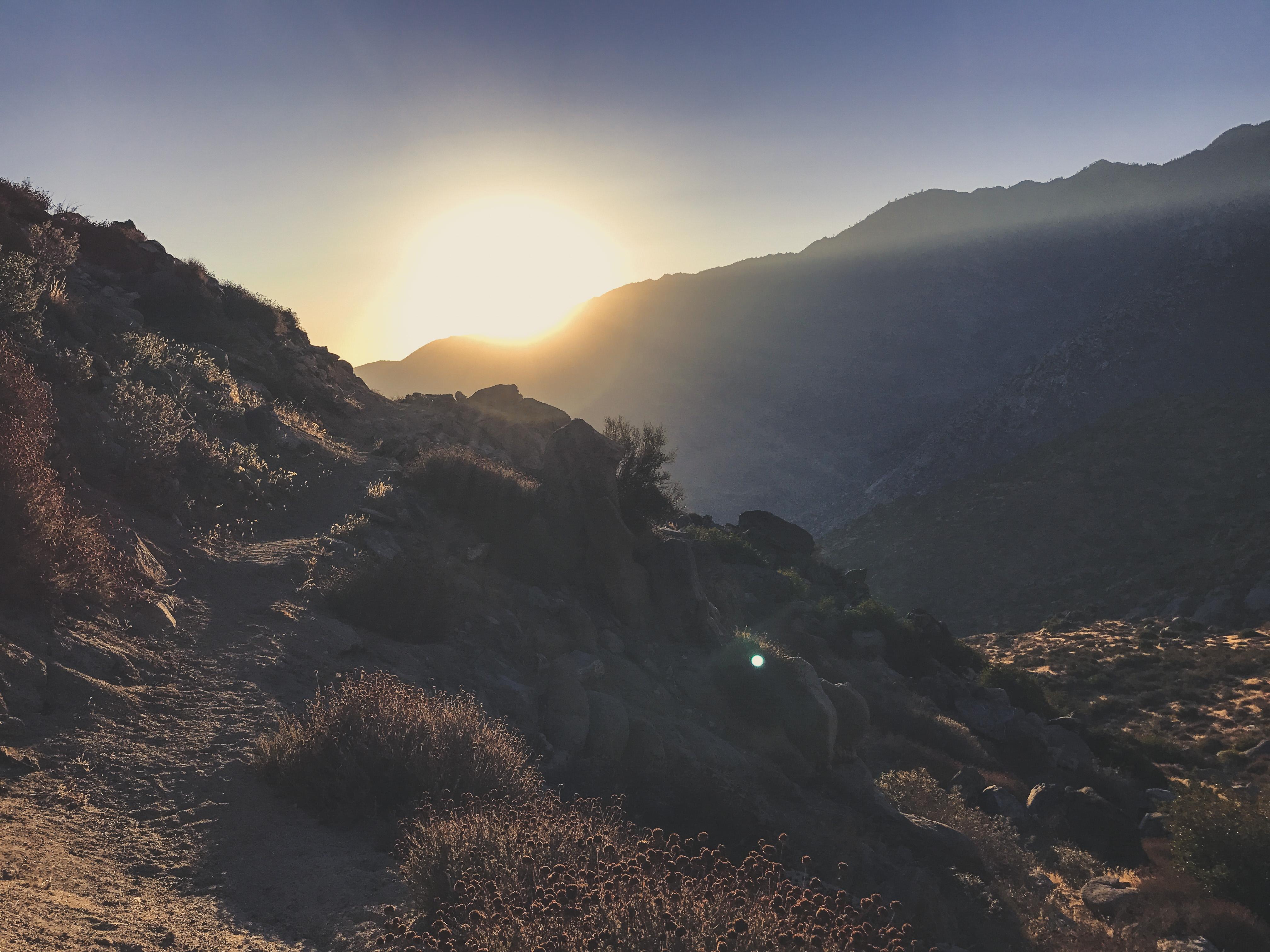 desert sunset pct