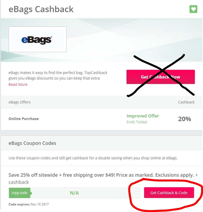 Ebags coupon code