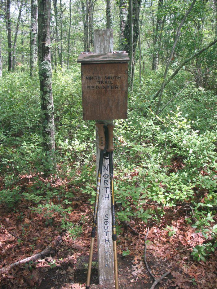 RI North South Trail register