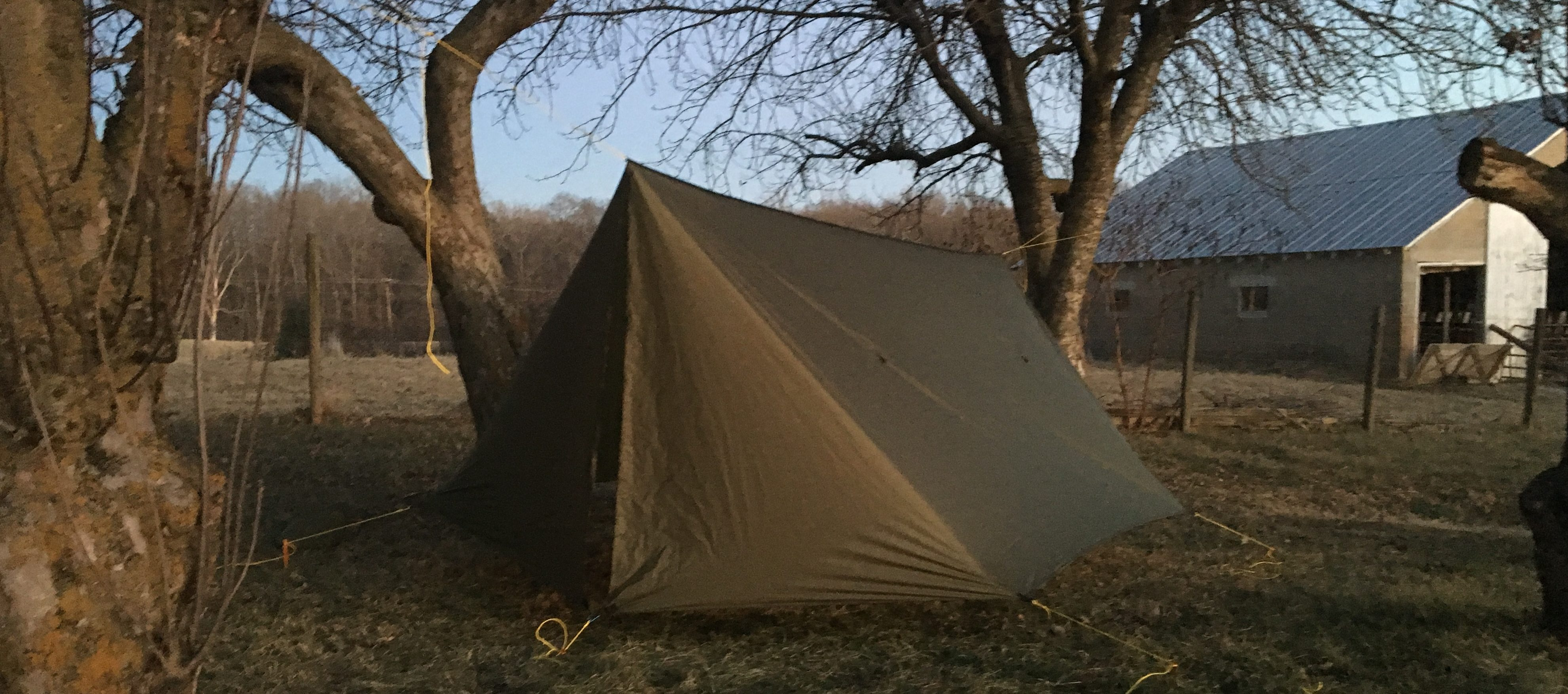 Even when the tarp is in the larger bag I can still compress it to fit other items in the space. & Gear Review: Warbonnet Superfly Hammock Winter Tarp - The Trek