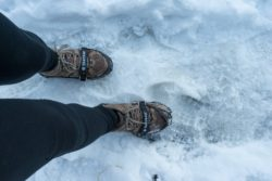 hiking with crampons