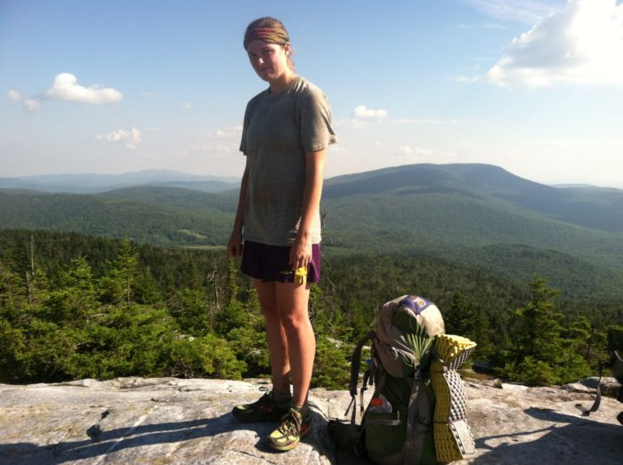 a photo of an appalachian trail thru-hiker