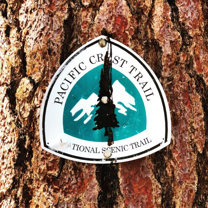 a photo of pacific crest trail sign