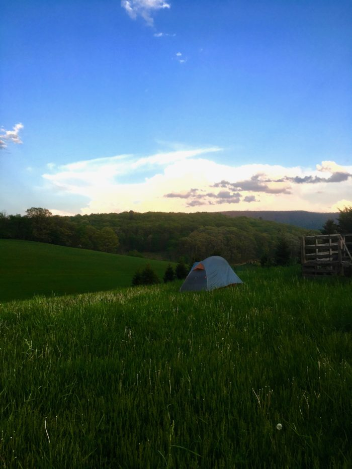 appalachian trail tent virginia