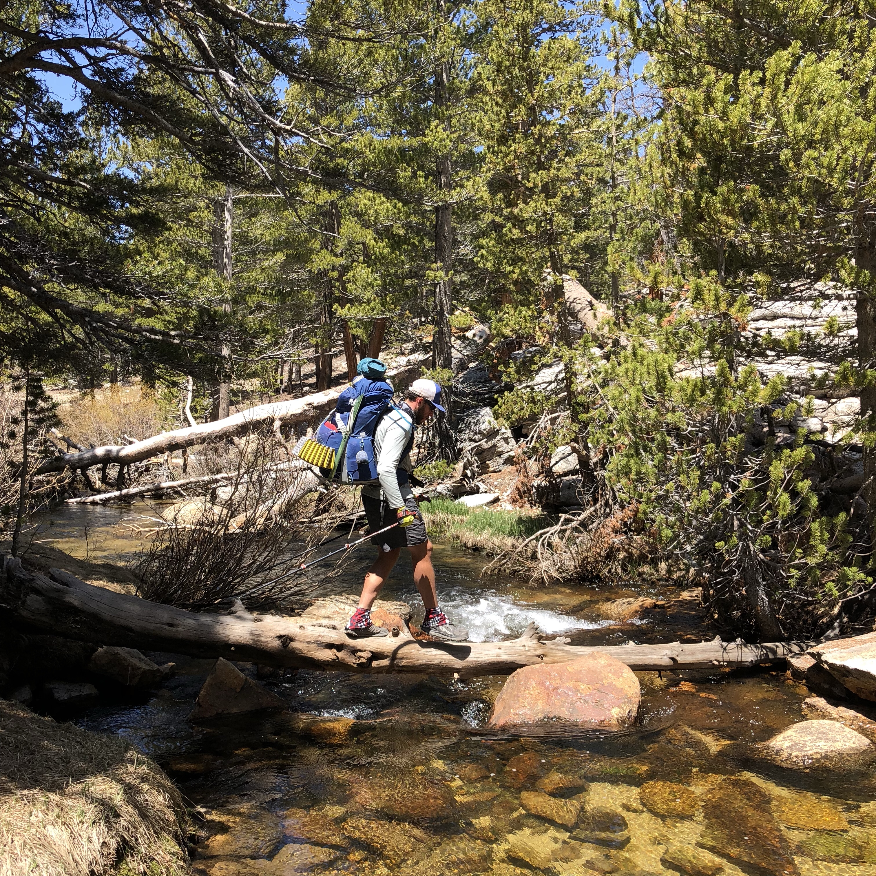 a photo of a pacific crest trail thru-hiker