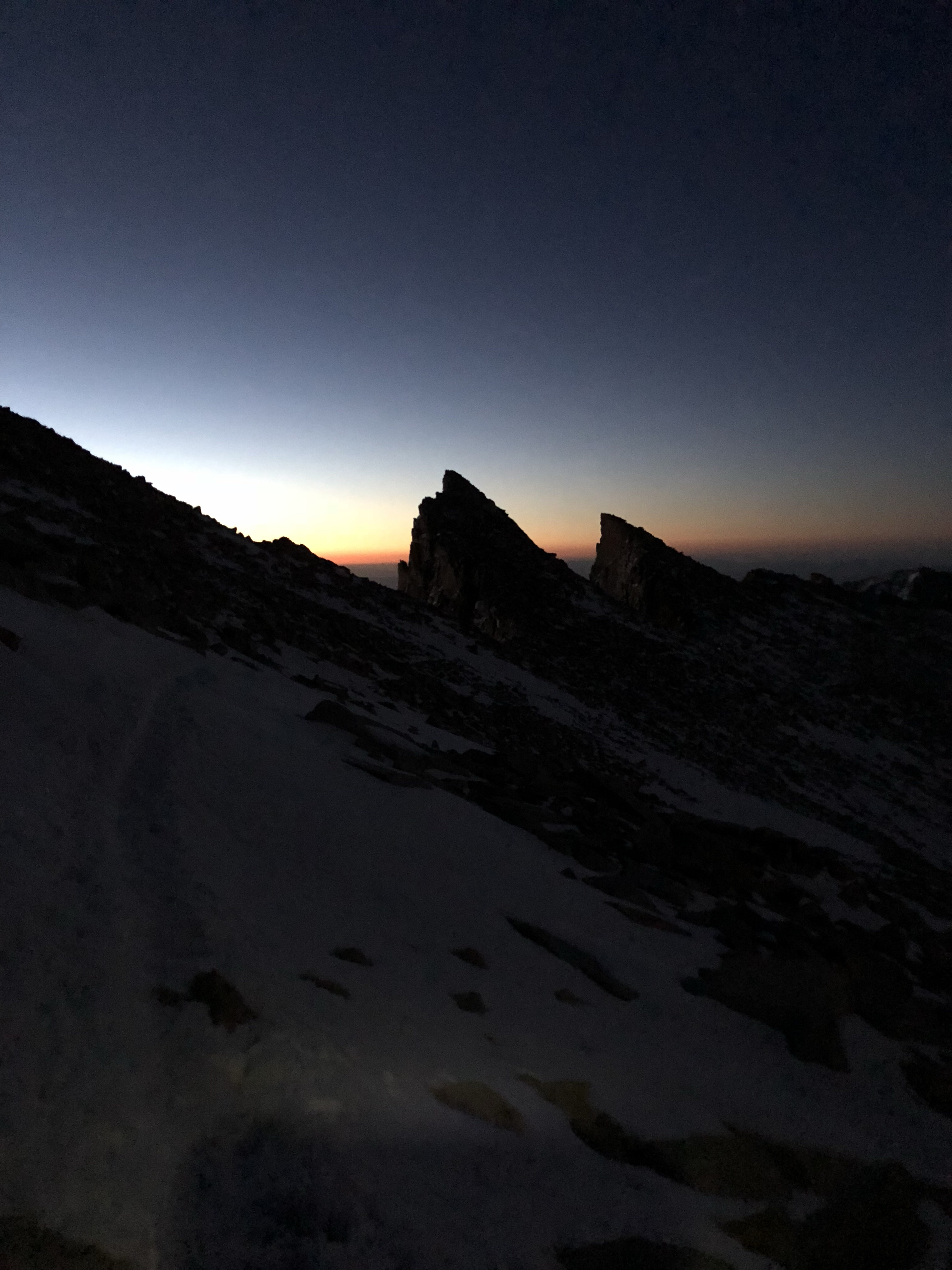 a photo of a sunrise hike up to Mt. Whitney