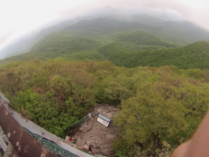 The bird's eye view on Albert Mountain