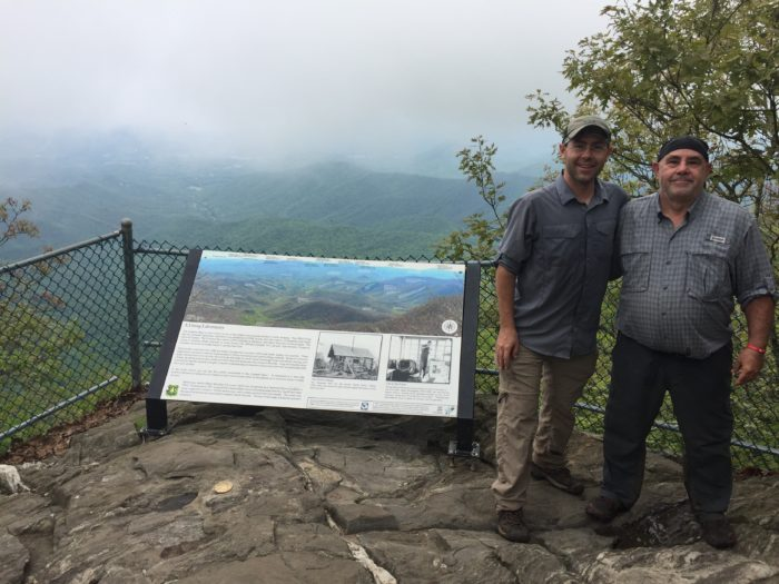 Dad and I on Albert Mountain