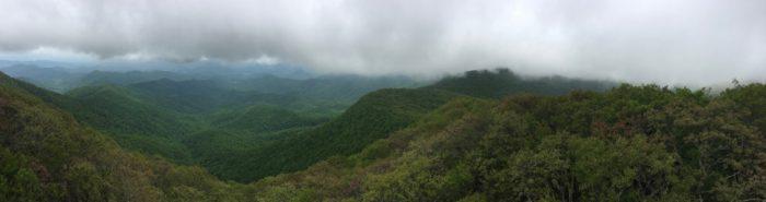 Albert Mountain view panorama