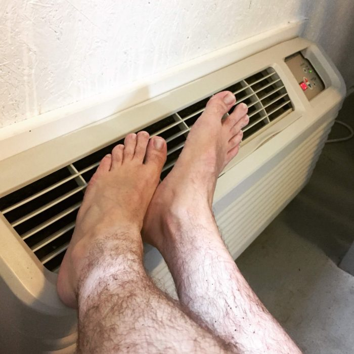Drying out hiker feet