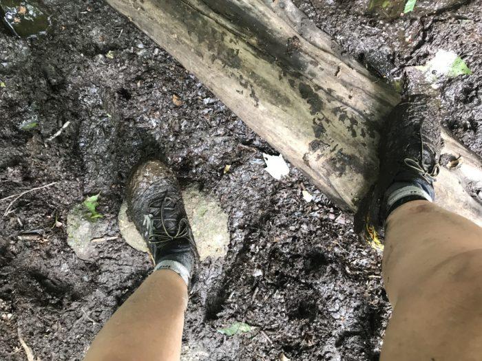 muddy feet
