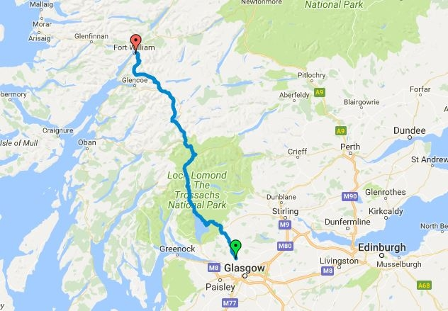 West Highland Way Map How to Hike the West Highland Way: 96 Miles Through the Scottish  West Highland Way Map