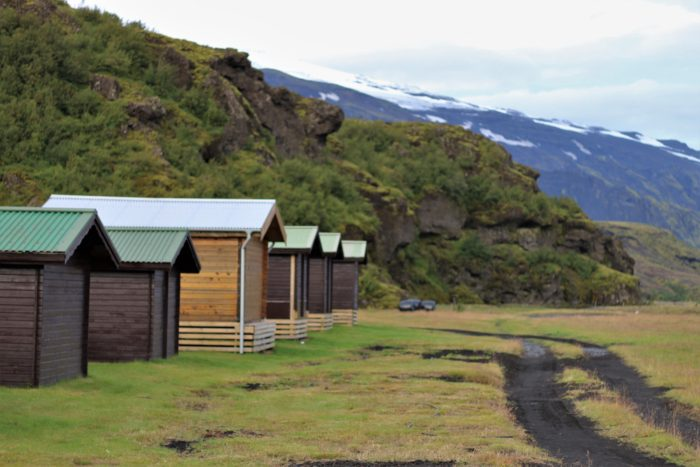 Þórsmörk Huts and the access road of the Laugavegur Trail