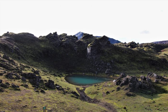 Hot springs on the Laugavegur Trail