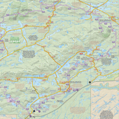 La Cloche Silhouette Trail Map Jeffs Maps