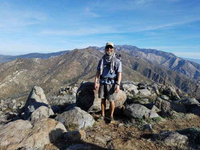 hiker on ridgeline near Idyllwild