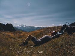 Marie on the Glishorn mountain, Switzerland