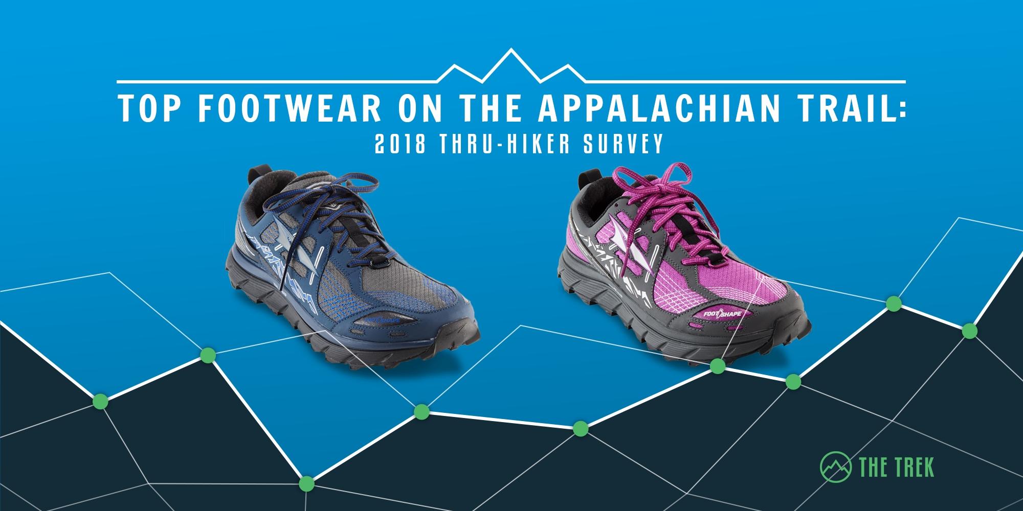 Top Footwear on the Appalachian Trail: 2018 Thru-Hiker Survey