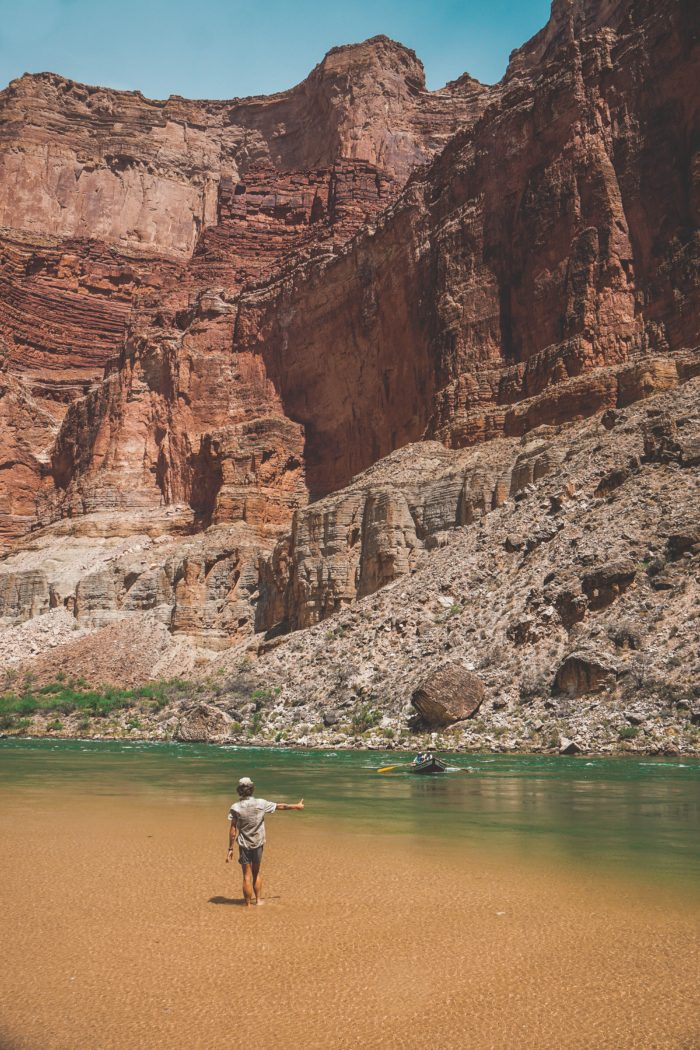 Hitchhiking the Colorado River on Hayduke, Grand Canyon, Arizona