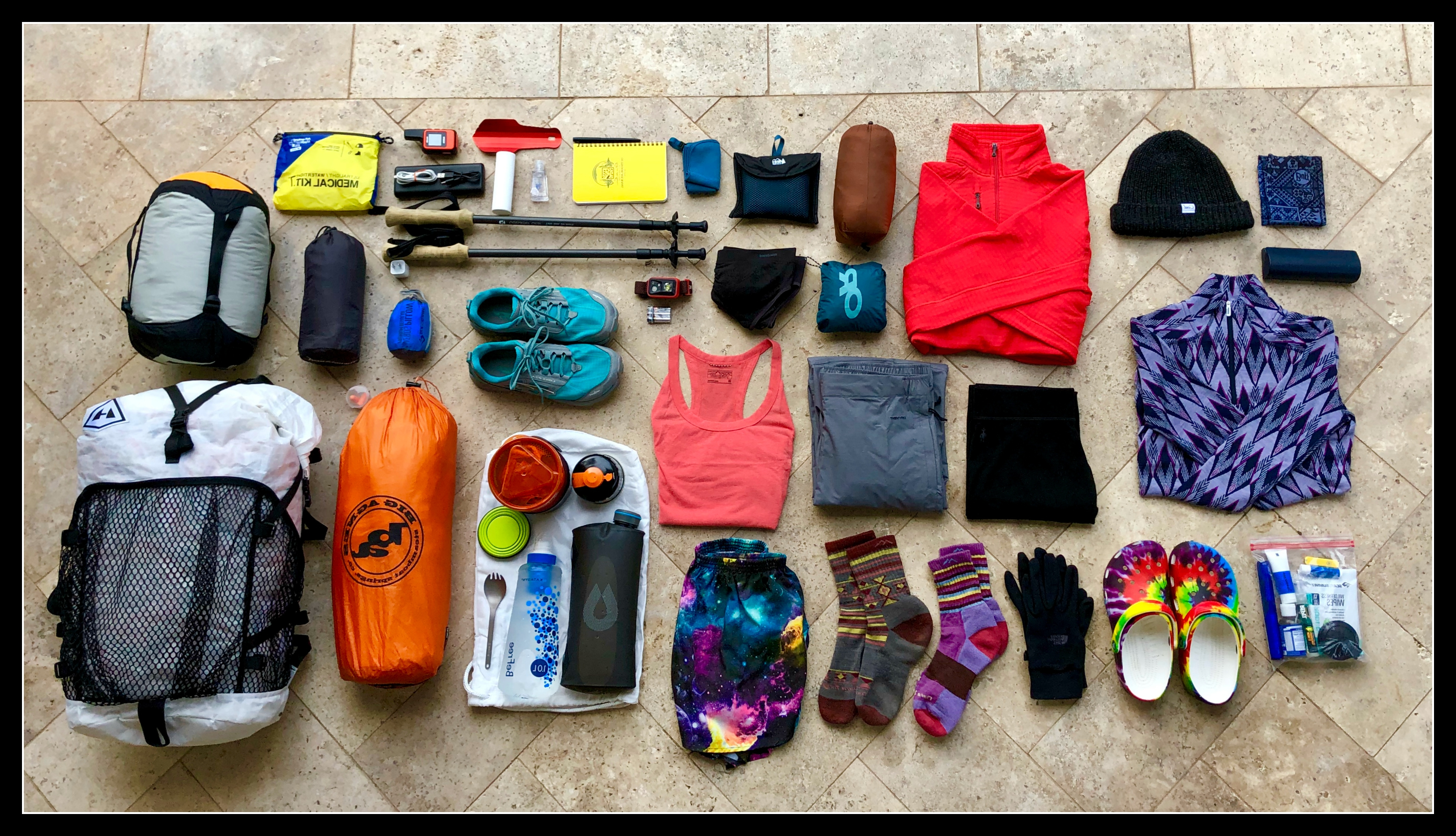My Complete Gear List, and Base Weight: 14 Pounds - The Trek