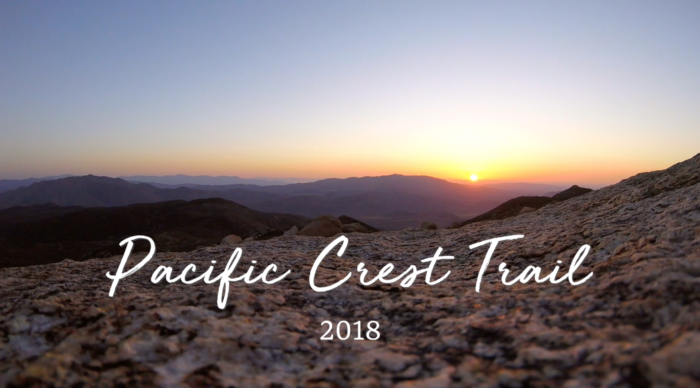 a photo of a sunrise on the Pacific Crest Trail