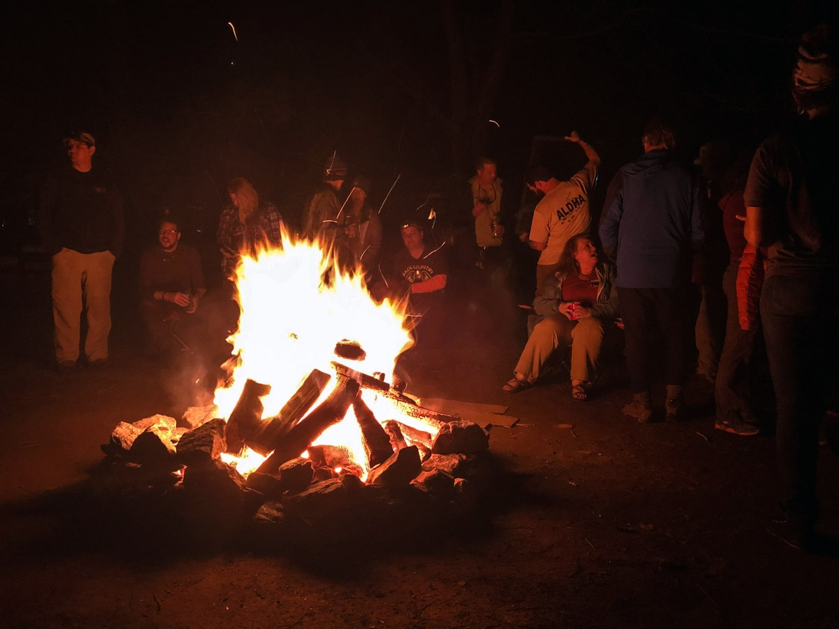 campfire at the Appalachian Trail Kick Off
