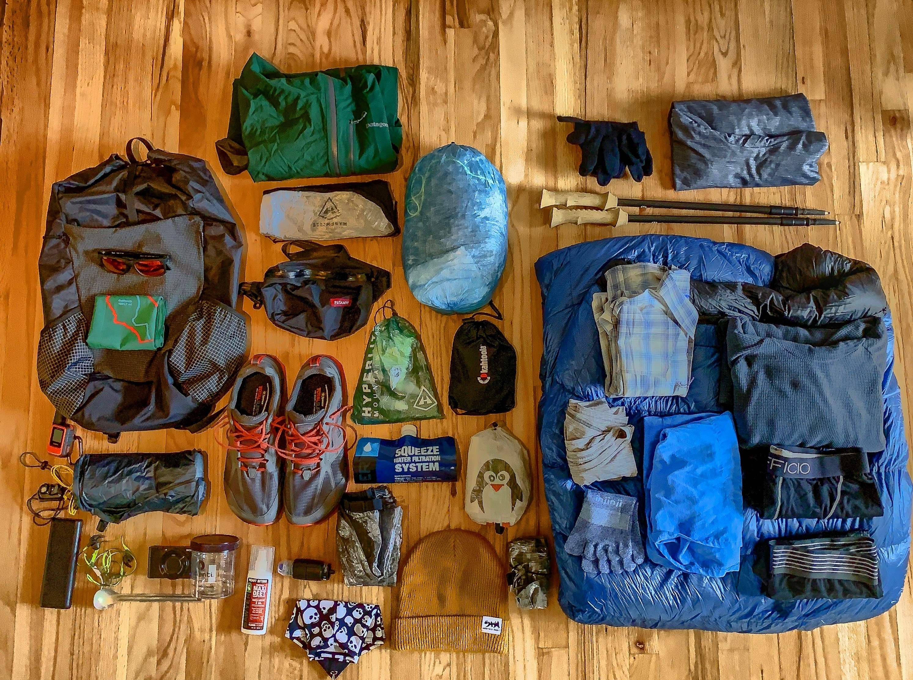 his pct gear list