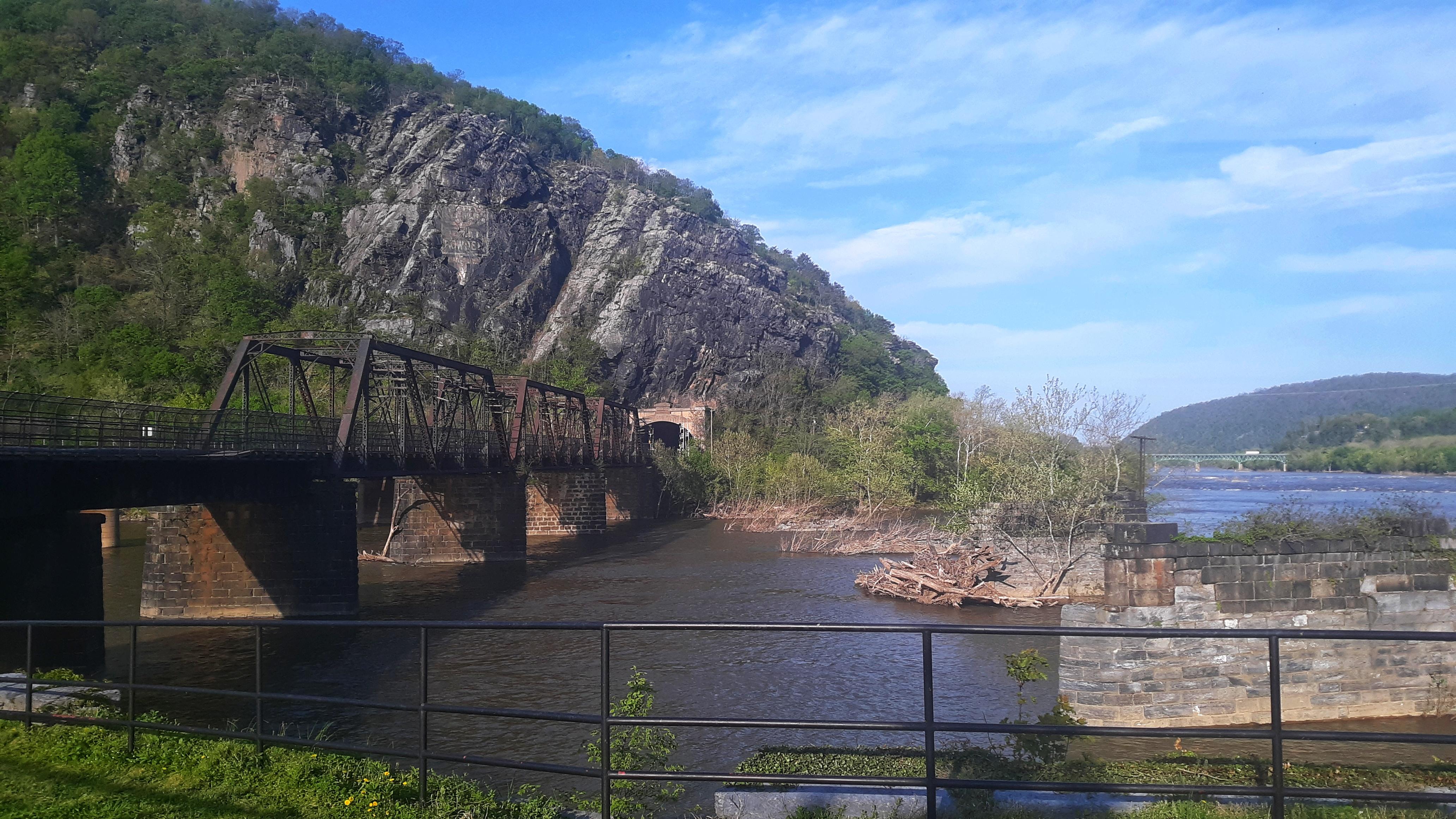 Appalachian Trail Footbridge in Harpers Ferry Closed after Train Derails - The Trek