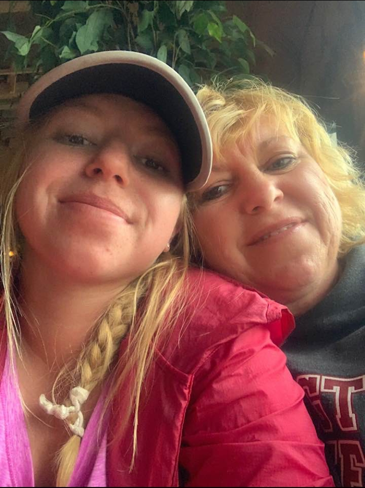 Mom and I for lunch
