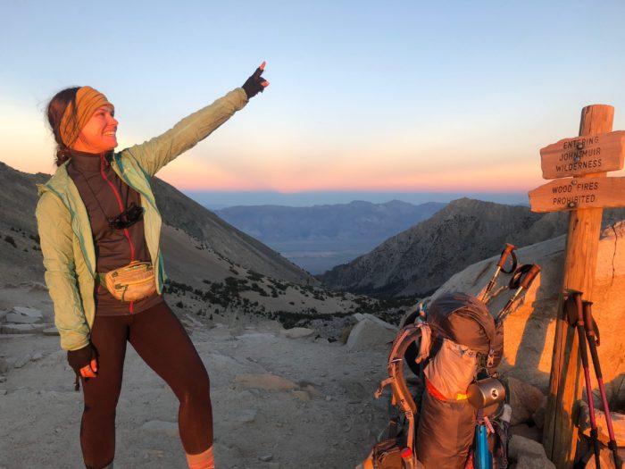 conquering hiker