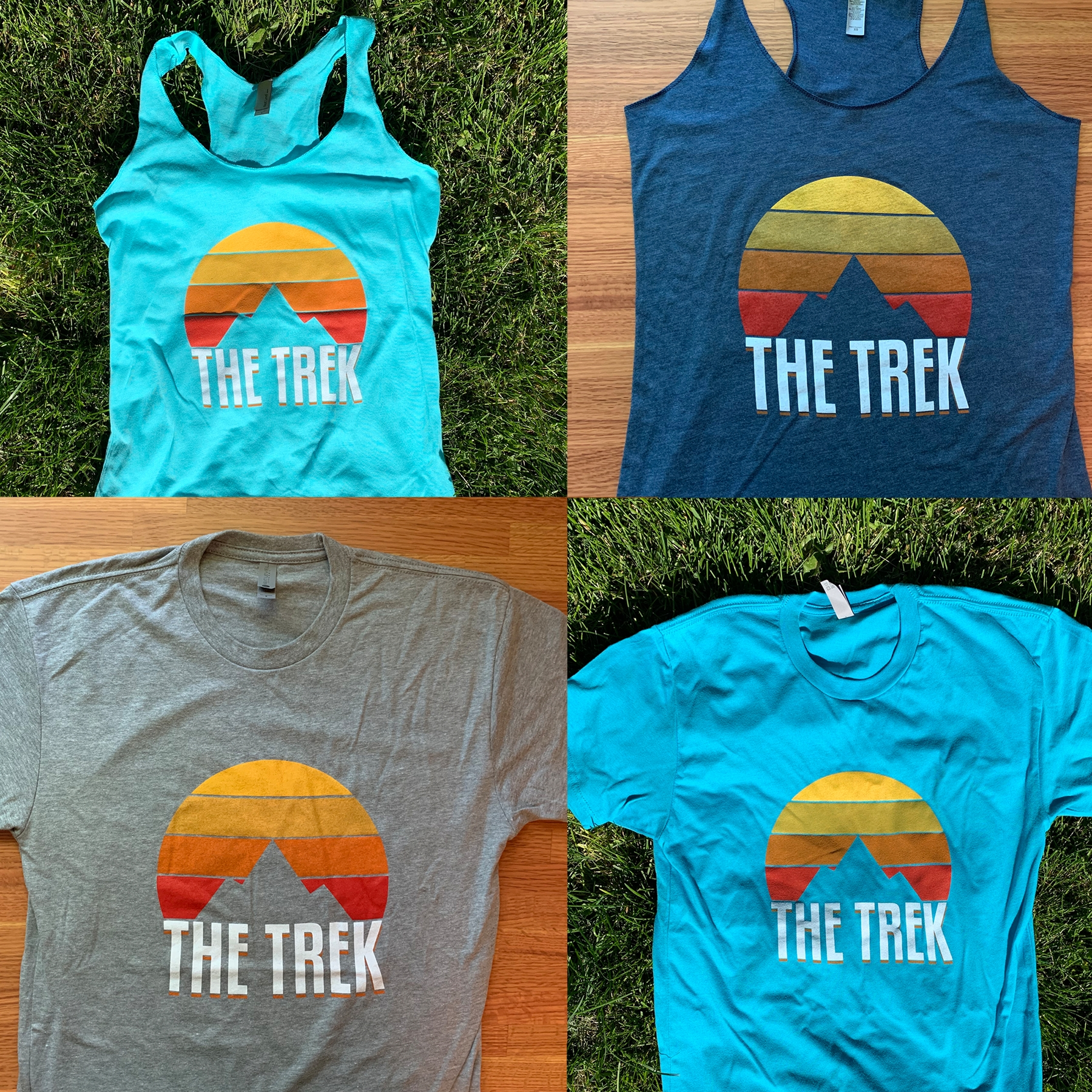 The Trek Retro Sunrise Tees and Tanks