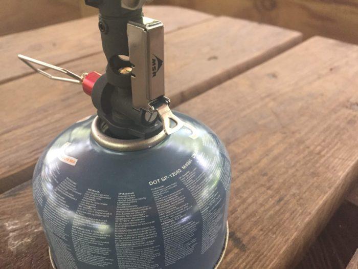 Push-start Piezo ignition close up