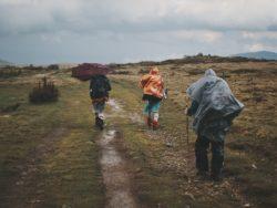 hiking in kosovo - rain