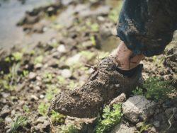 hiking in kosovo - mud