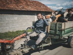 hiking in kosovo - people
