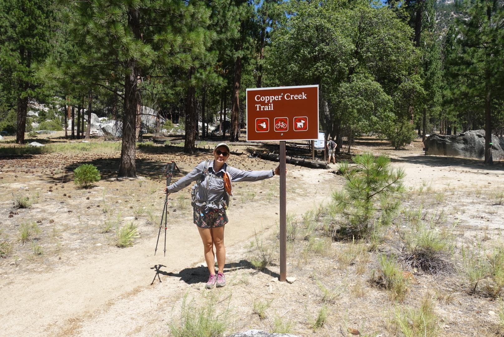 Starting at Copper Creek Trail Head
